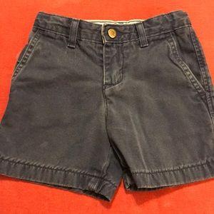 Little Boys Distressed Navy Shorts